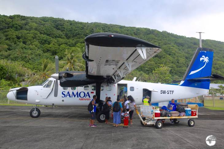 Departing the island of Ta'u for the 30 minute hop to Tutuila with Samoa Airways.