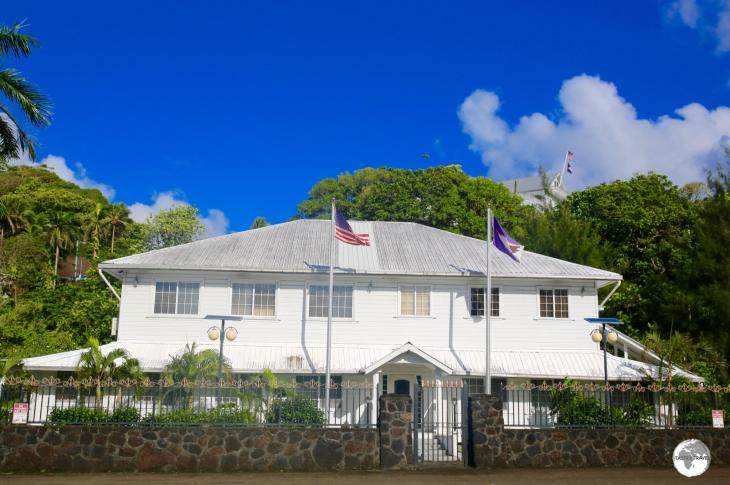 The 'official' residence of the Deputy Governor, with the Governor's residence on the hill behind.