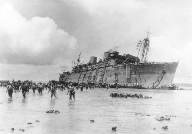 The SS Coolidge shortly before it sank. Source: discovervanuatu.com