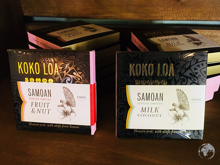 Local Koko Loa chocolate, which is made from Samoan cocoa beans.
