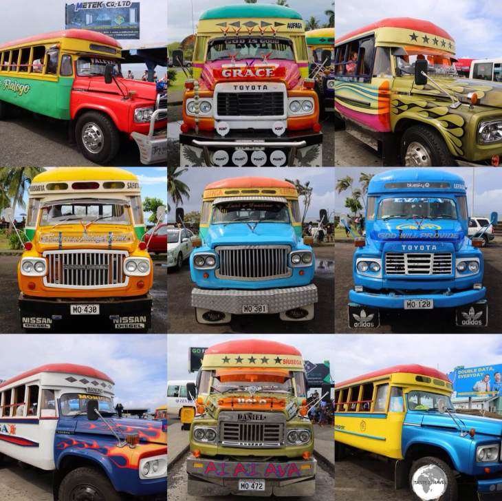 The colourful buses of Samoa are very funky.