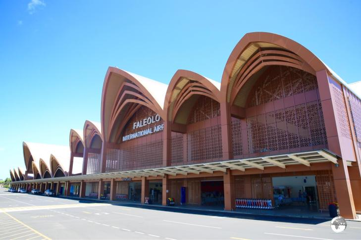 The impressive Faleolo International Airport terminal was constructed by the Chinese government at a cost of WST$140 million.