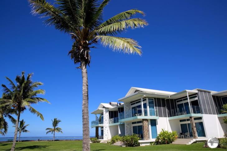 Deluxe, waterfront villas at Taumeasina Island Resort.