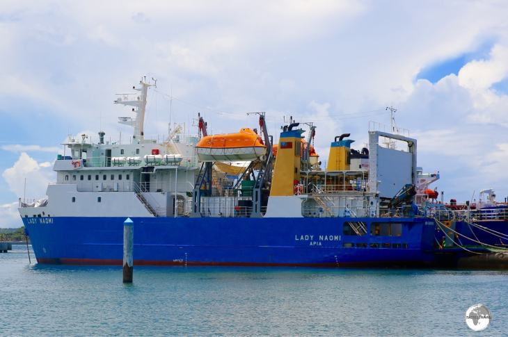 The MV Lady Naomi, seen here in Apia harbour, was out-of-service due to ongoing maintenance during my visit.