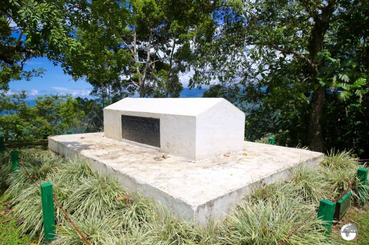 The tomb of Robert Louis Stevenson on Mount Vaea.