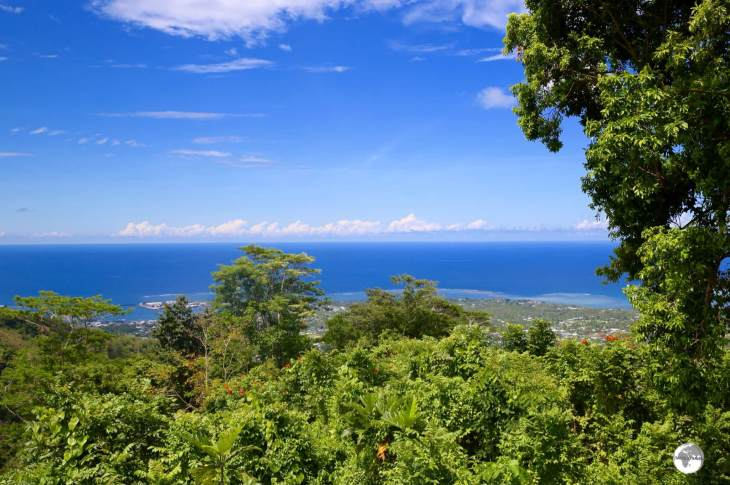 The view of Apia from Mount Vaea.