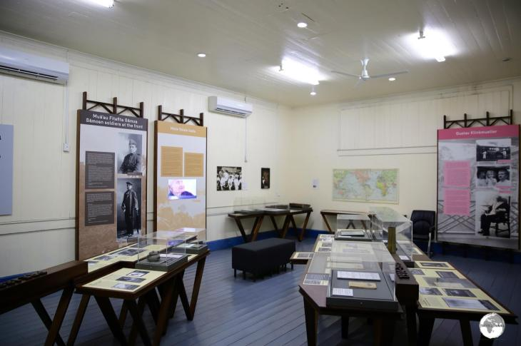One of the four exhibition rooms at the Museum of Samoa.