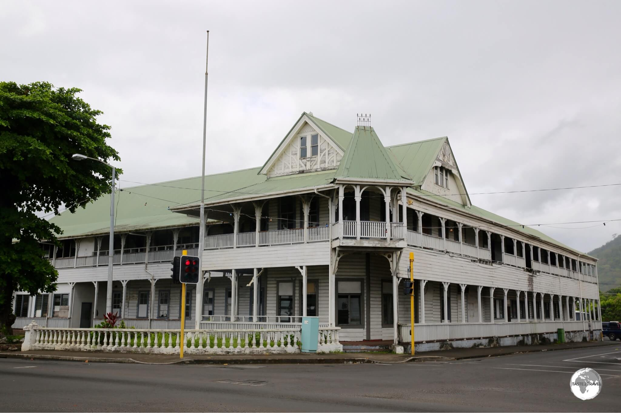 One of the last vestiges of the German Colonial era – the Old German Courthouse in Apia.