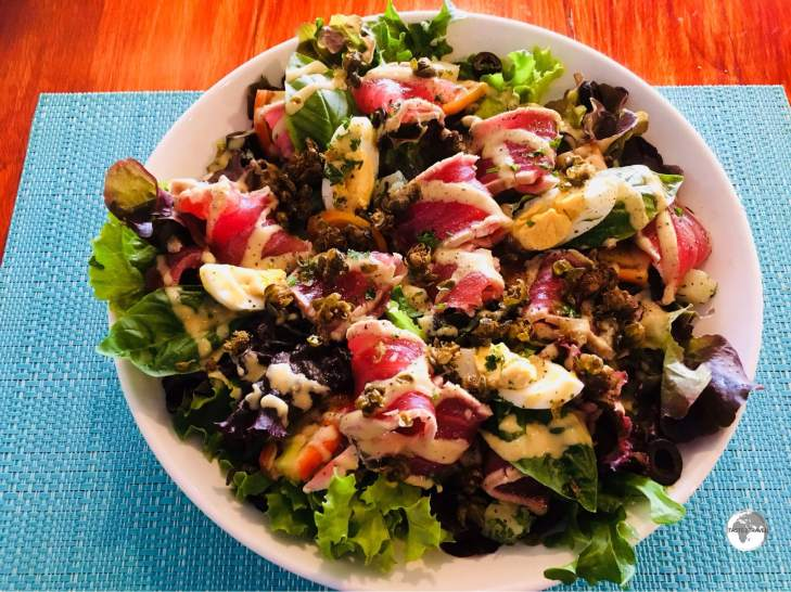 """""""One of the most amazing salads in the world"""" - the Salad Niçoise at Paddles restaurant."""