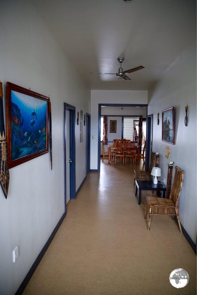 The spotlessly clean hallway at Talofa Inn.