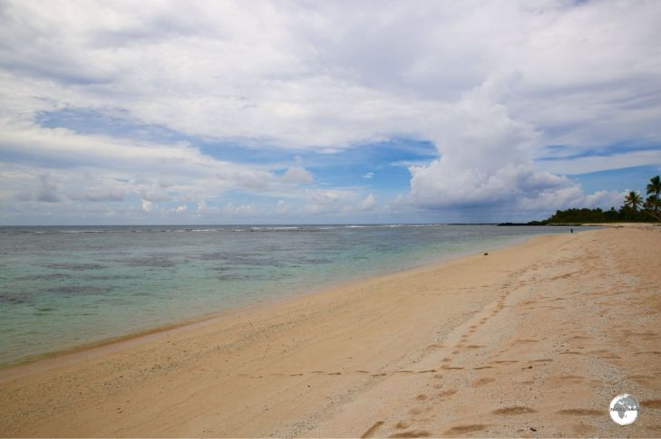 Falealupo Beach - possibly the most beautiful beach on Savai'i.