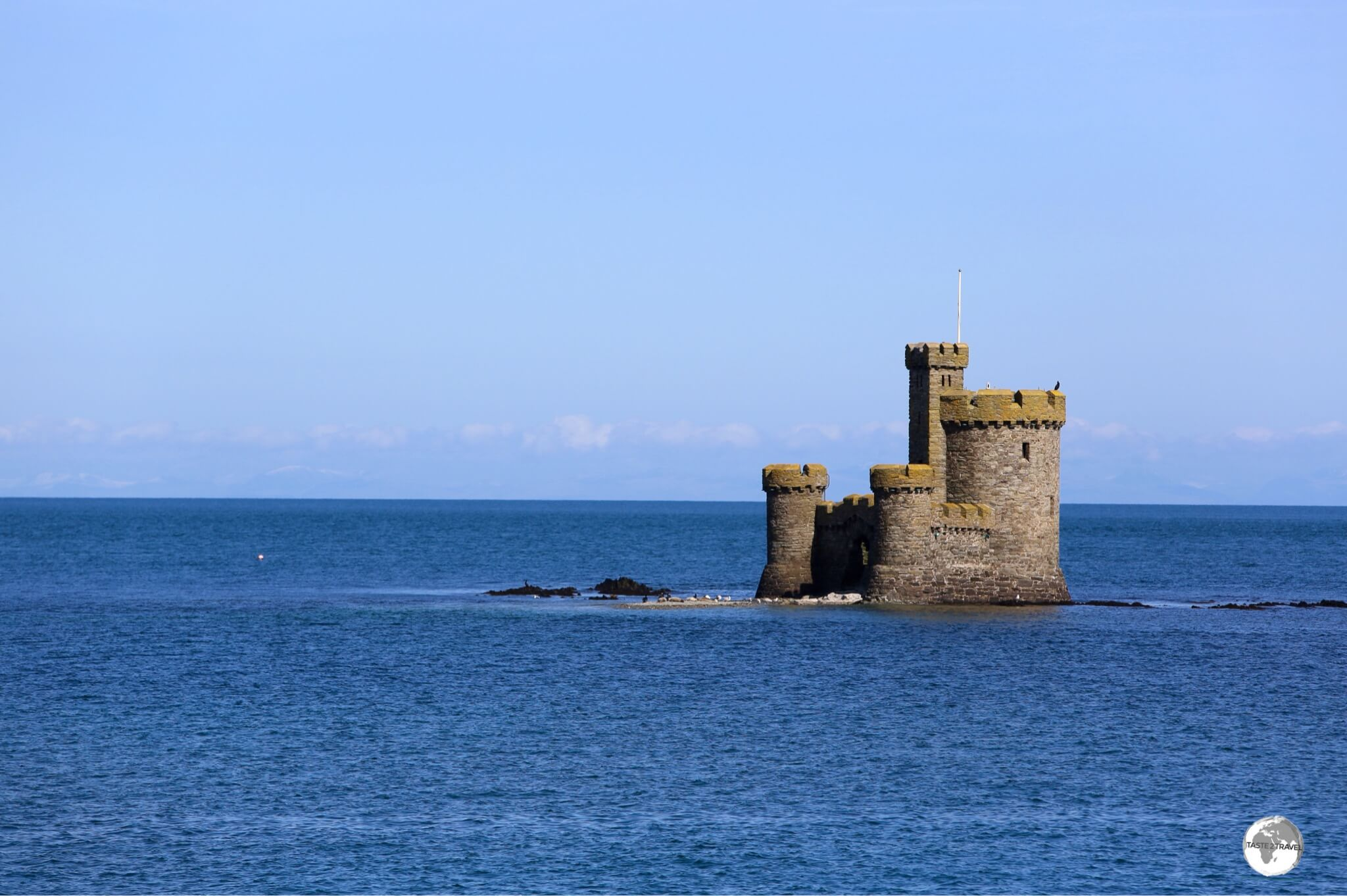 Built in 1832, the Tower of Refuge sits atop St. Mary's Isle, a partly submerged reef in Douglas harbour.
