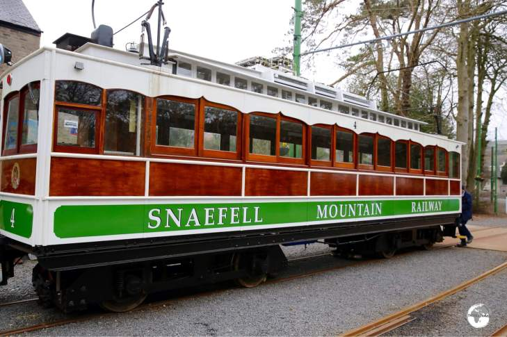 The town of Laxey is the starting point for the Snaefell Railway.