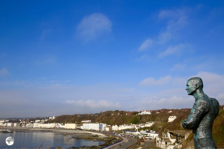 A view of the capital - Douglas, which is located on a wide bay overlooking the Irish Sea.