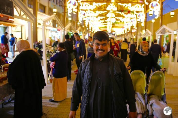 Souq Al-Mubarakiya is especially busy in the early evening.