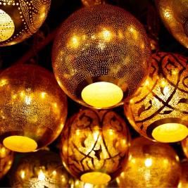Golden lanterns at Manana souk.