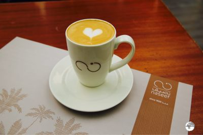 Naseef Cafe offers wonderful meals and great coffee.