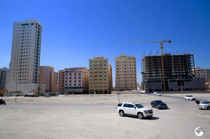 A view of the new tourist enclave of Juffair, which is being built upon land reclaimed from the sea.