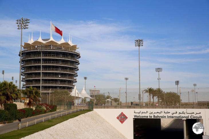 The entrance to Bahrain International Circuit.