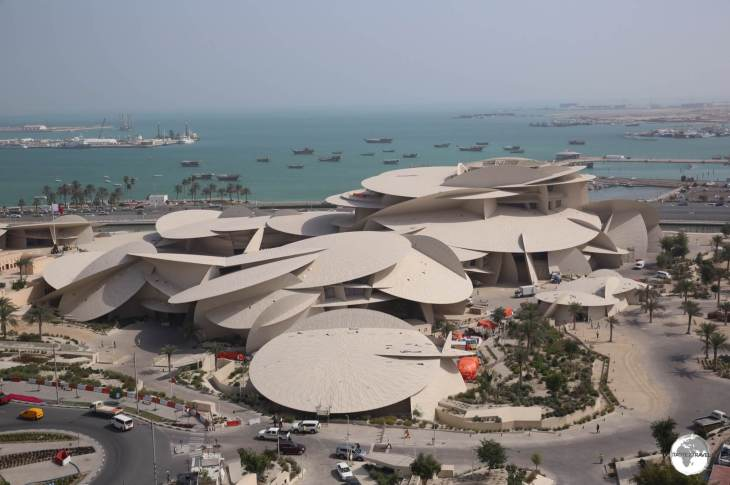 The newly opened National Museum of Qatar was designed by Jean Novel who was inspired by a desert rose crystal.
