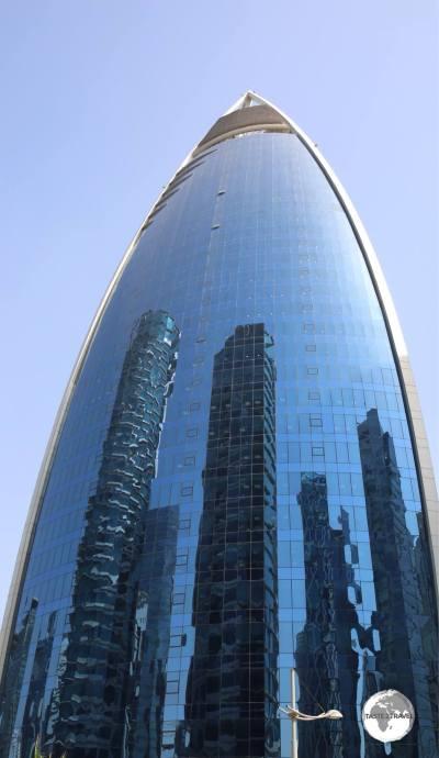 Modern skyscrapers in Doha City Centre.