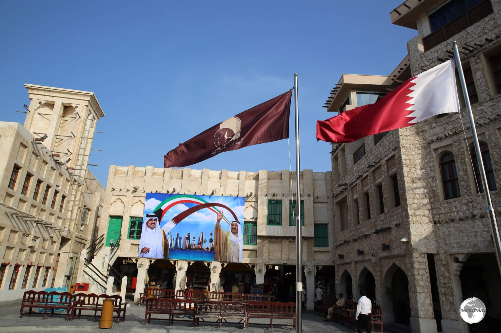 Souk Waqif lies in the heart of Doha old town.