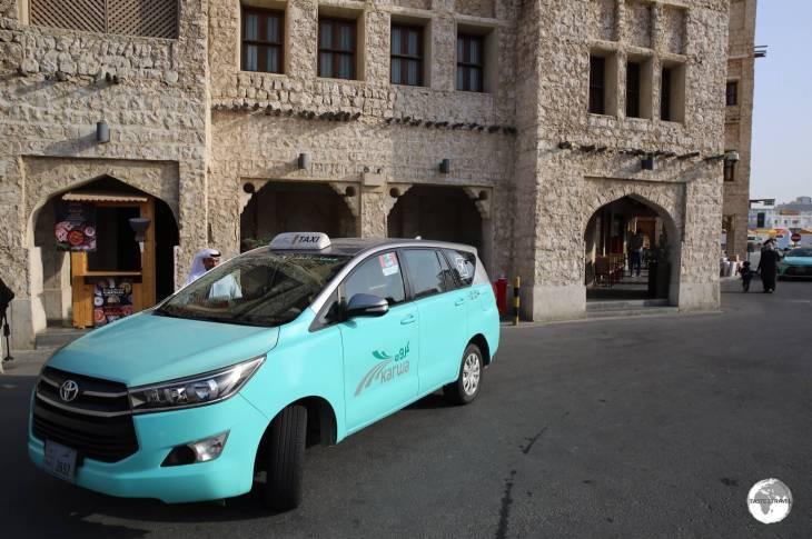 Taxi at Doha Souk.