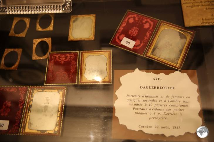 The first photos made in Mauritius were these Daguerreotypes which date from 1843.