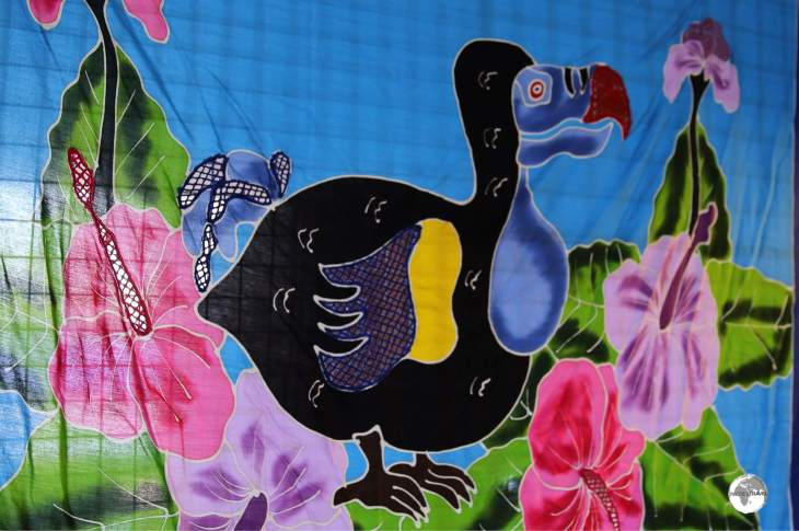 Dodo batik on sale at the Craft market.