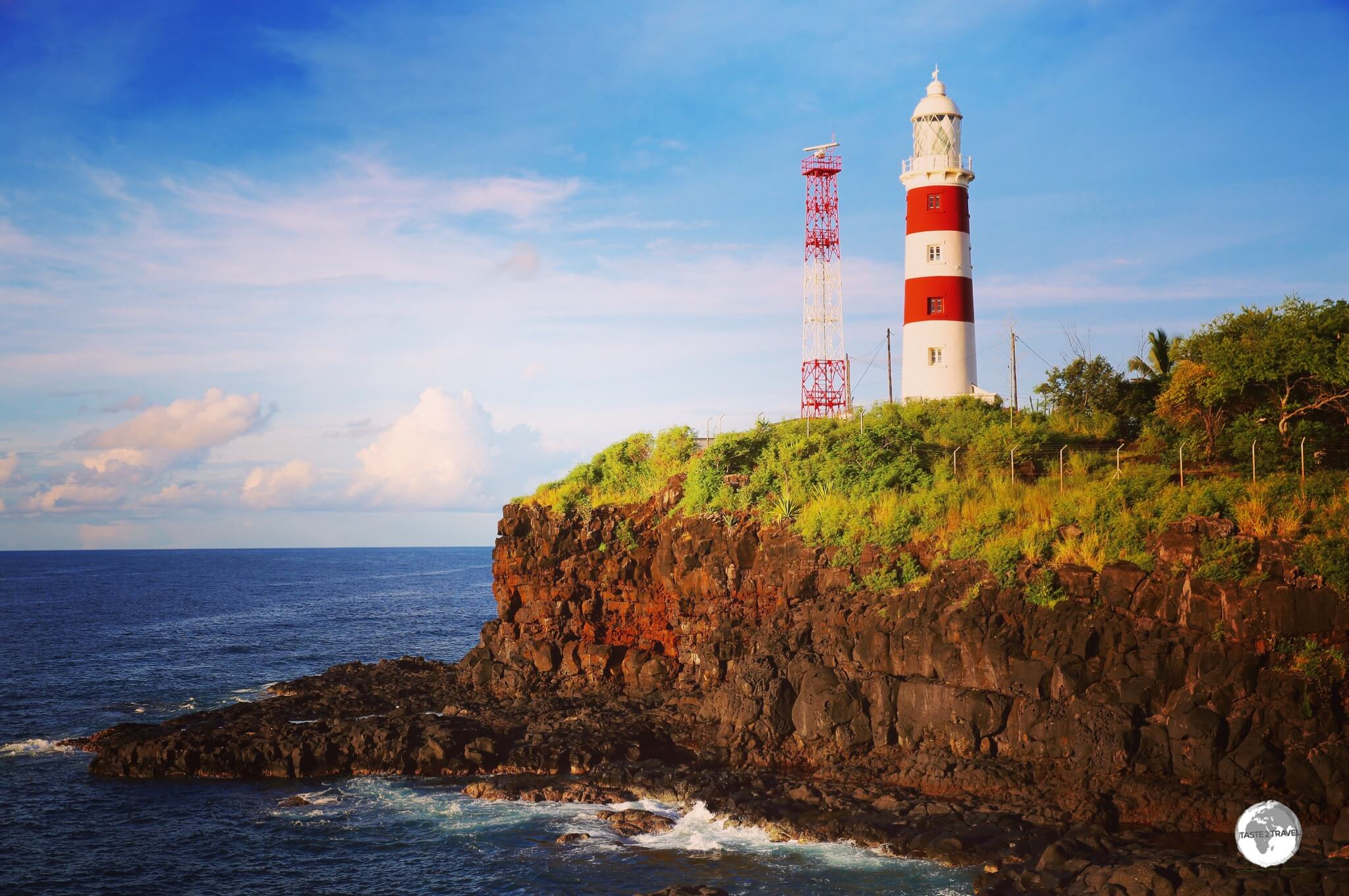 Located on the rugged west coast, the Albion lighthouse is the only lighthouse still in use on Mauritius.