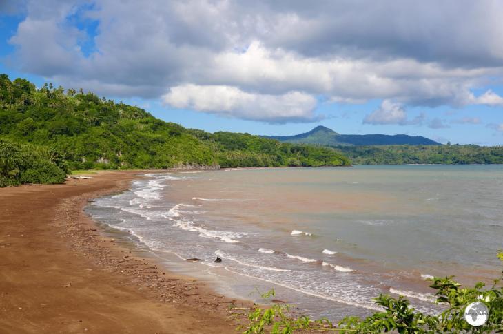 A panoramic view of Sakouli beach.