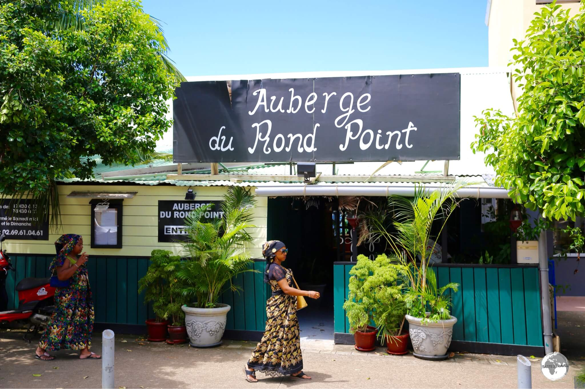 My favourite restaurant in Mamoudzou, the charming Auberge du Rond-Point offers wonderful meals.