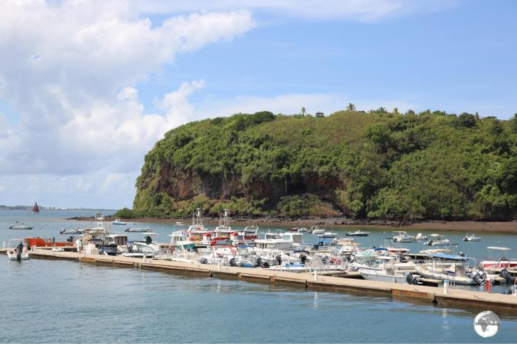 The marina in Mamoudzou harbour is home to pleasure craft, all of which are owned by French ex-pats.