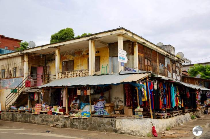 A shop on Rue du Commerce, the main street of the capital - Mamoudzou.