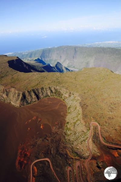 So many breath-taking views on Reunion, including this one of the Plaine des Sables at the Piton de la Fournaise.