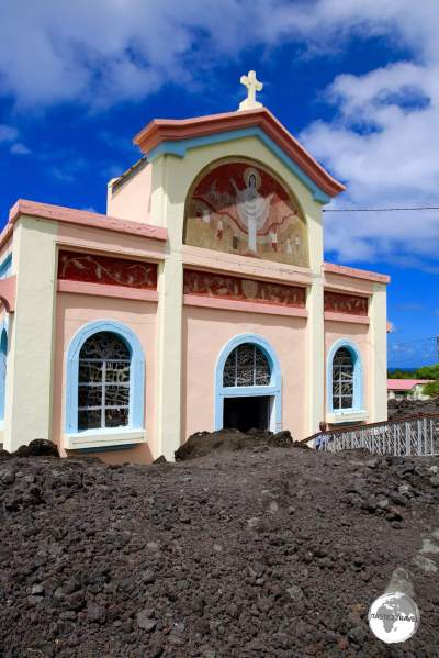 The miraculous Église Notre Dame des Laves in Piton Sainte-Rose.