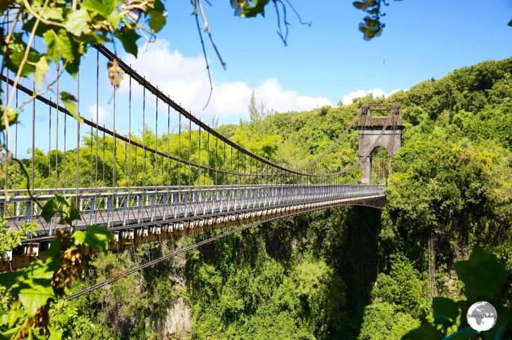 The incredible <i>Rivière de l'Est</i> suspension bridge is now permanently closed to pedestrian traffic.