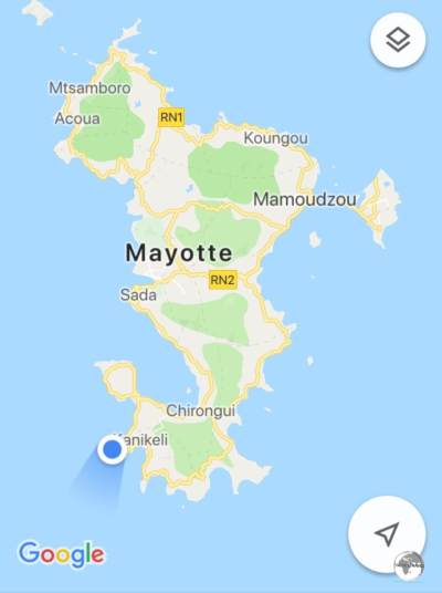 The seahorse-shaped Mayotte.