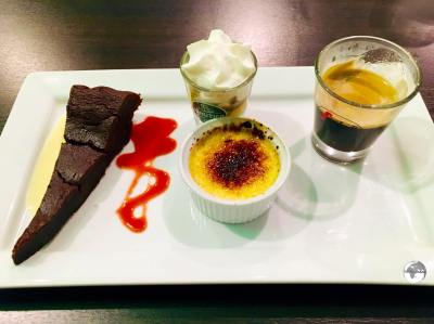 Café gourmand is a popular dessert on Reunion.