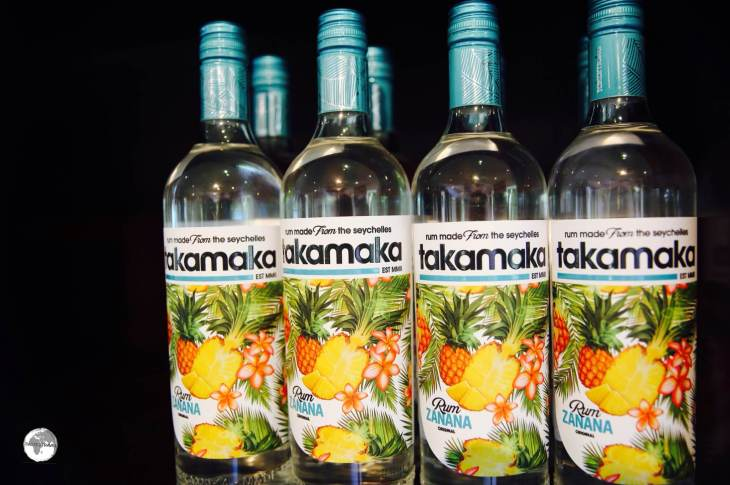 The Takamaka white rum is a popular mixer, used in many local cocktails.