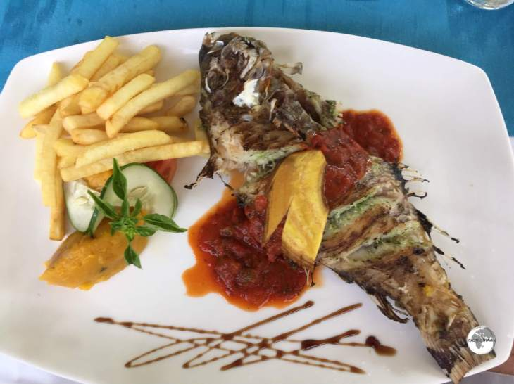 Red snapper is very popular in the Seychelles, and can be sampled everywhere, including at the Pirogue restaurant on Praslin.