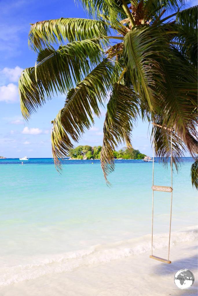 Gorgeous Anse Volbert is the main tourist hub on Praslin.