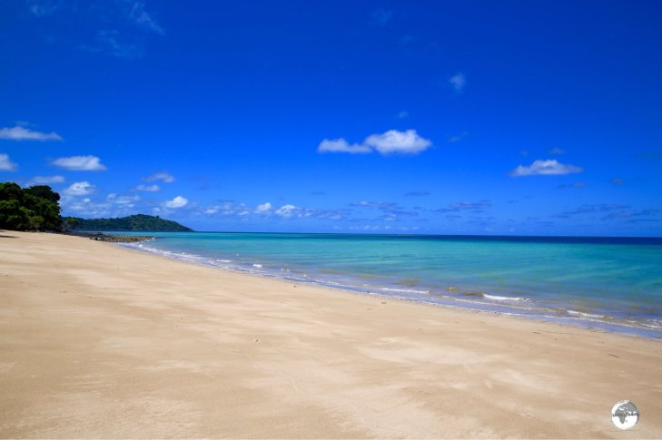 N'Gouja beach is the prettiest beach on Mayotte and home to many sea turtles.