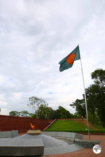 The eternal flame marks the spot where, in 1971, Sheikh Mujibur Raman gave his famous speech of Independence.