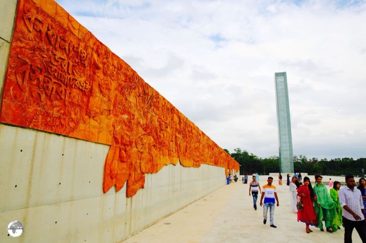Terracotta panels and the 50-metre high 'Tower of Light' mark the entrance to the newly built Museum of Independence.