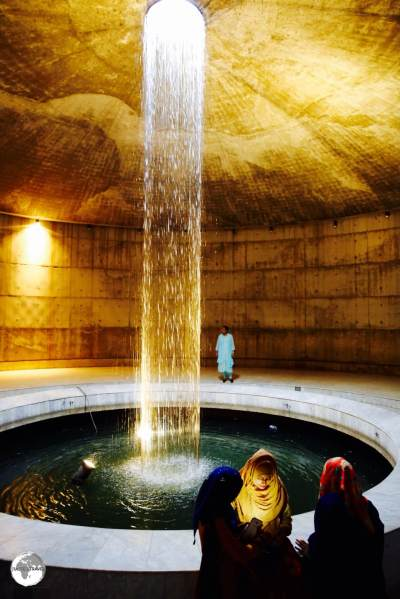 Dhaka Travel Guide: An underground water fountain at the Museum of Independence in Dhaka.