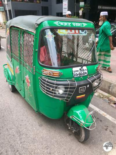 Real life Dodgem cars, the CNG Auto-rickshaws are a popular way to travel longer distances in Dhaka.