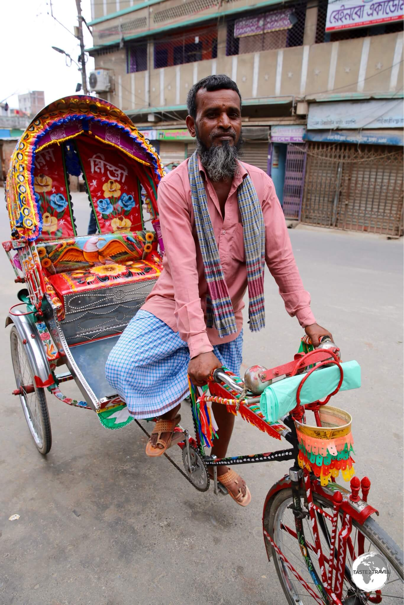 The streets of Dhaka are home to 800,000 cycle rickshaws.