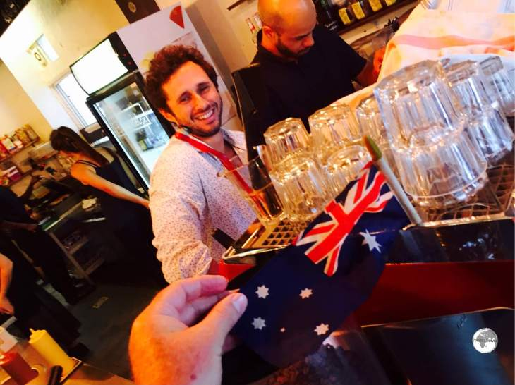 The owner of the Coffee Shop de Bourbon, Charles Petit, was inspired by the cafe culture of Australia.