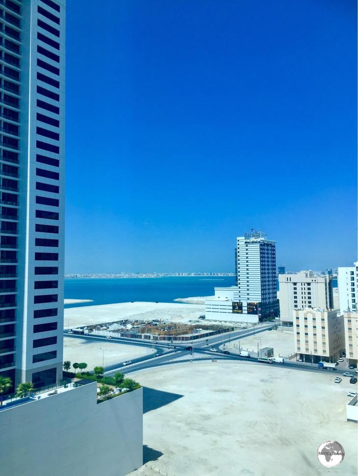 A typical view of Juffair, a new part of Manama, built on reclaimed land.